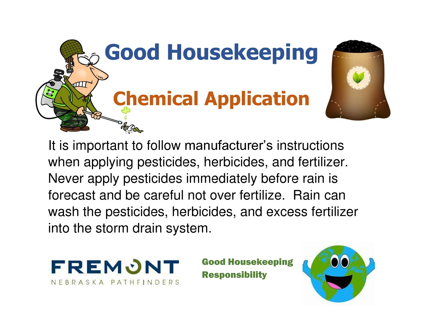 Good Housekeeping – Chemical Application